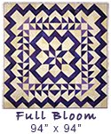 "Purple Full Bloom Quilt 94"" x 94"""