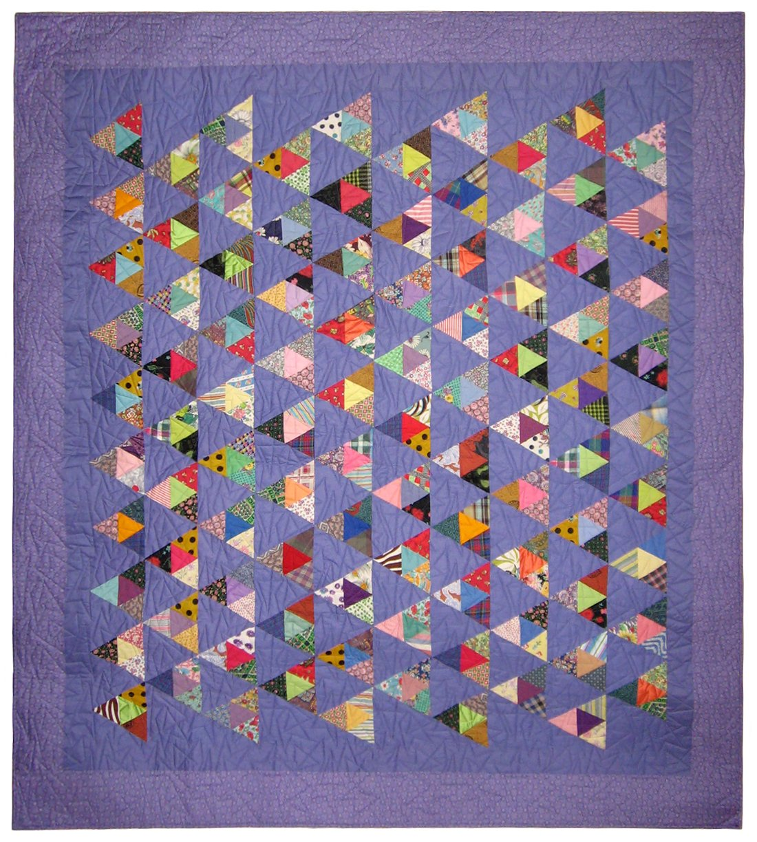 "Triangle Frenzy Quilt 89"" x 100"""