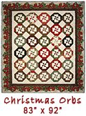 Christmas Orbs quilt