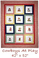 Cowboys At Play quilt