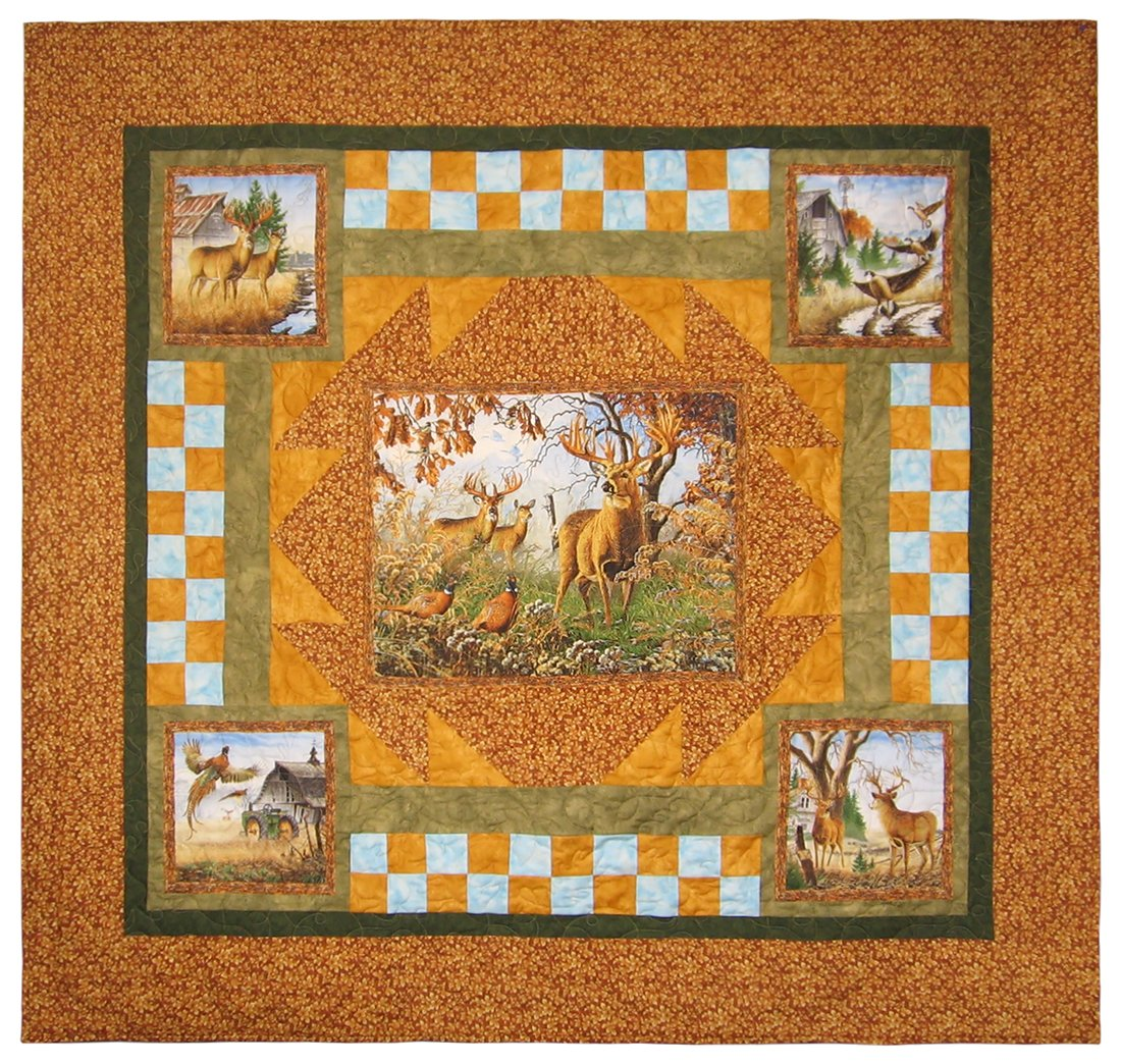 "Deer Country Quilt 65"" x 60"""