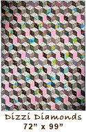 Dizzi Diamonds Quilt for Sale