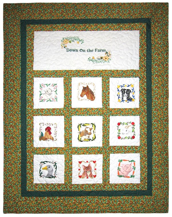 Down on the Farm Quilt or Wall Hanging 44