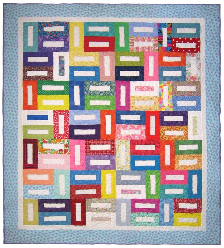 "Walk Around the Block Quilt 88"" x 98"""