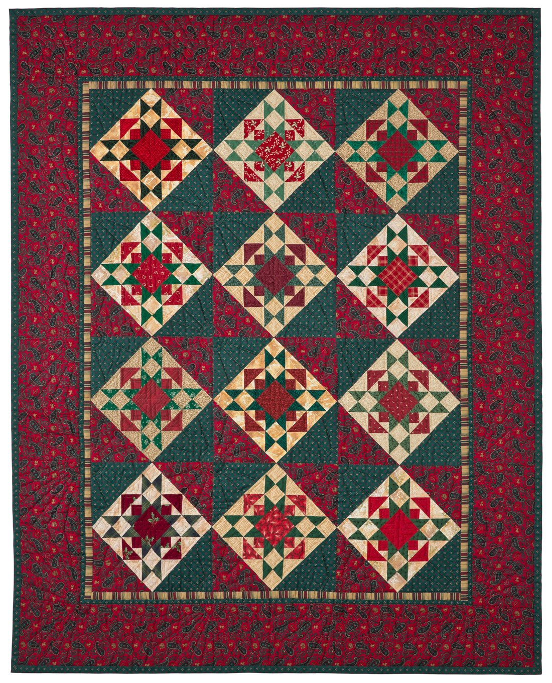 Christmas Star Quilt by Judy Hopkins