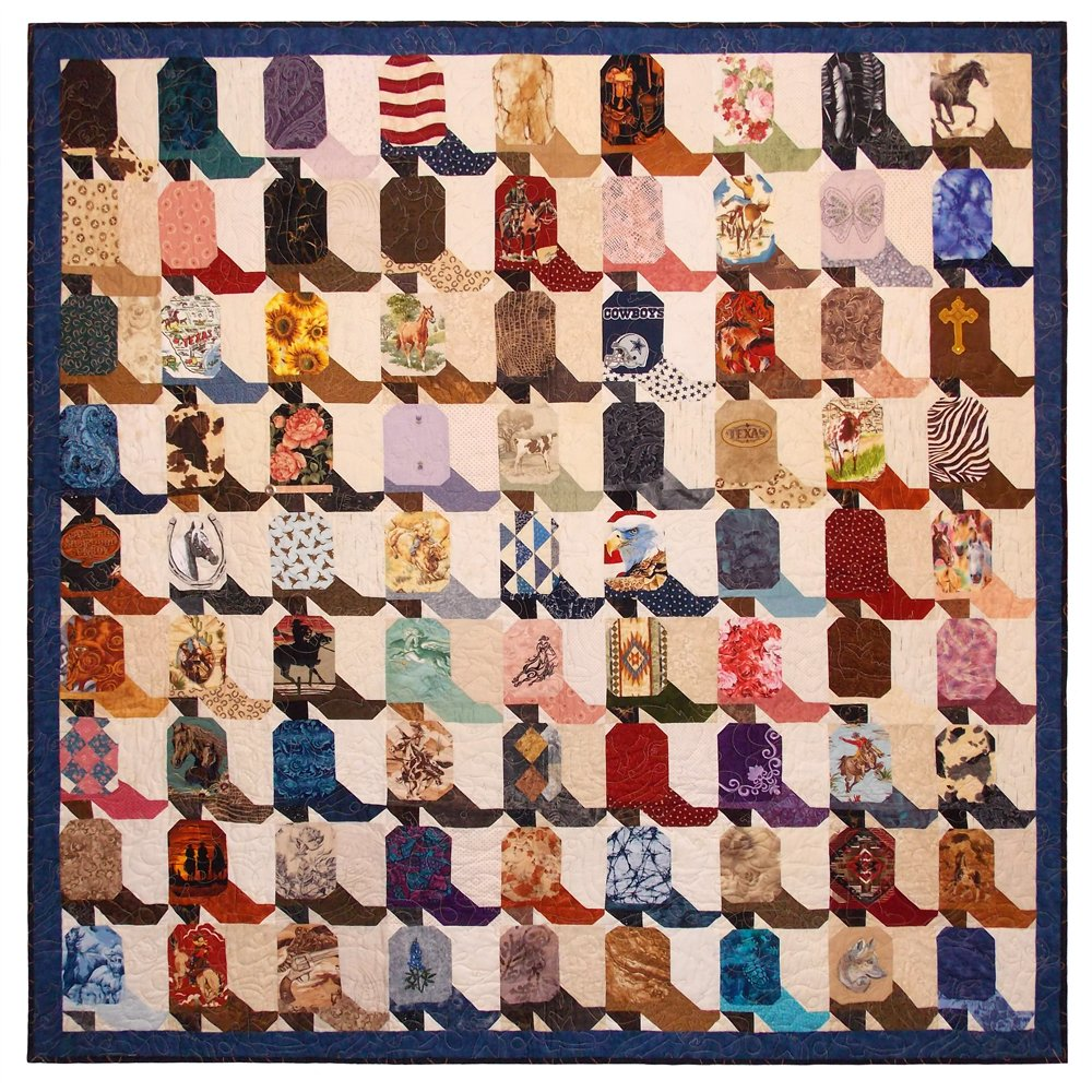 "Scoot yer Boots! quilt - 75"" 75"""