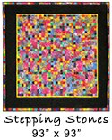 Stepping Stones in Batik quilt