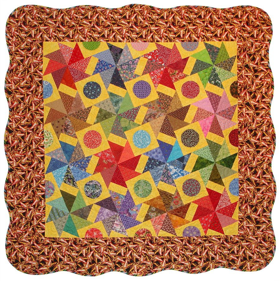 "Sunny Side Up Quilt 57"" x 57"""