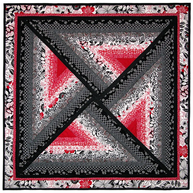 Red-Black Illusion quilt