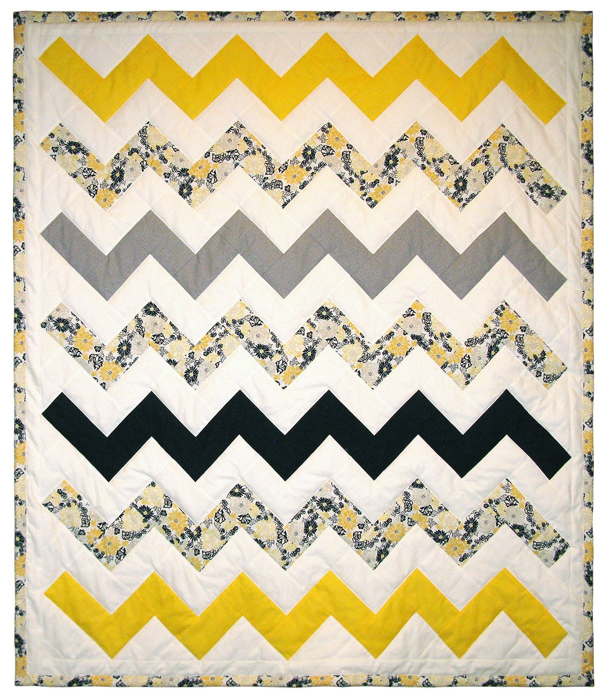 "Yellow Chevron - 47"" x 54"""