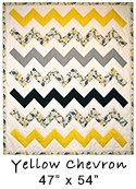 Yellow Chevron Quilt